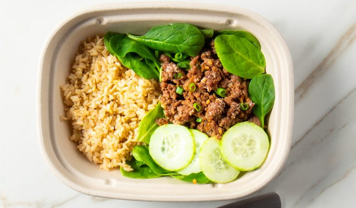 Spicy Asian Ground Beef Bowl