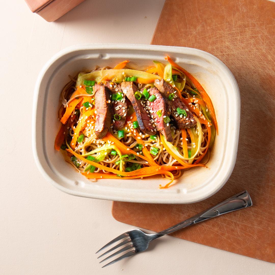 Steak Soba Noodle Salad
