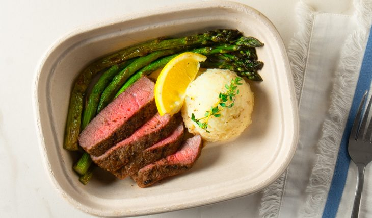 Garlic Steak and Asparagus