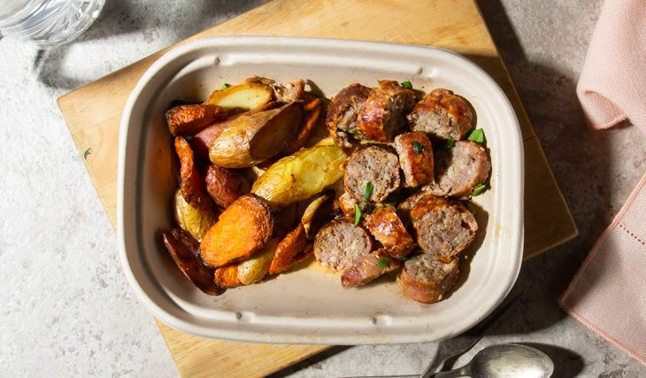 Roasted Root Veggies with Sausage