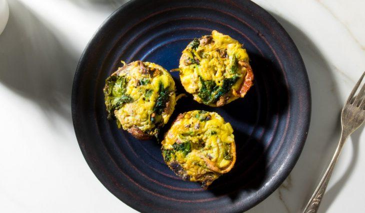 Mushroom Spinach Bacon Egg Cups