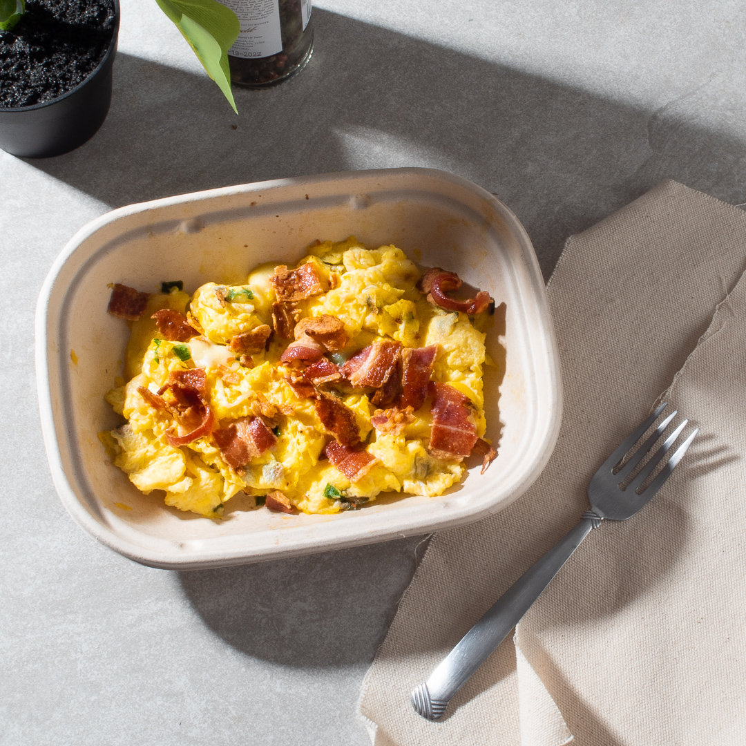 Scrambled Eggs with Halloumi Cheese