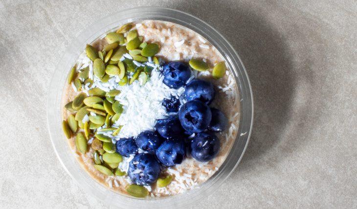 Blueberry Coconut Flour Porridge