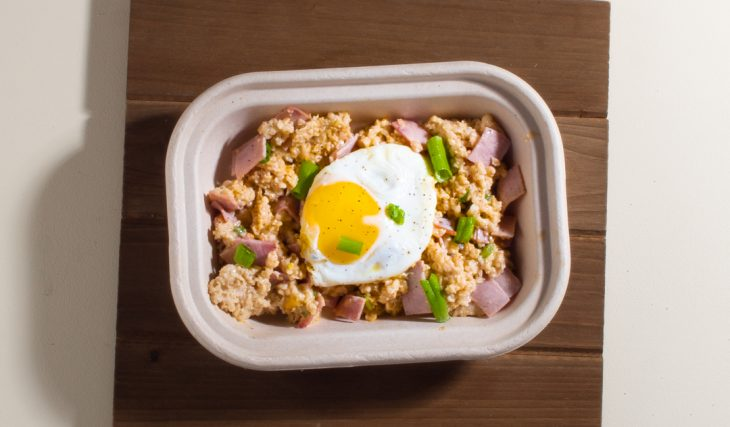Ham Egg and Cheese and Oatmeal