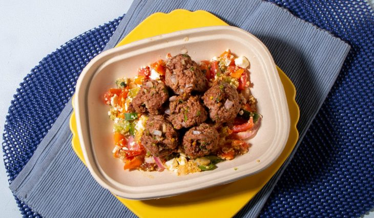 Mediterranean Salad with Lebanese Meatballs